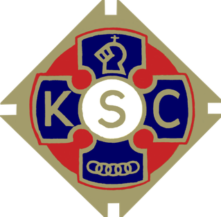 Logo of the UK Knights of St Columba, this logo maybe copyright, but is used here in good faith to promote the aims of the KSC Board